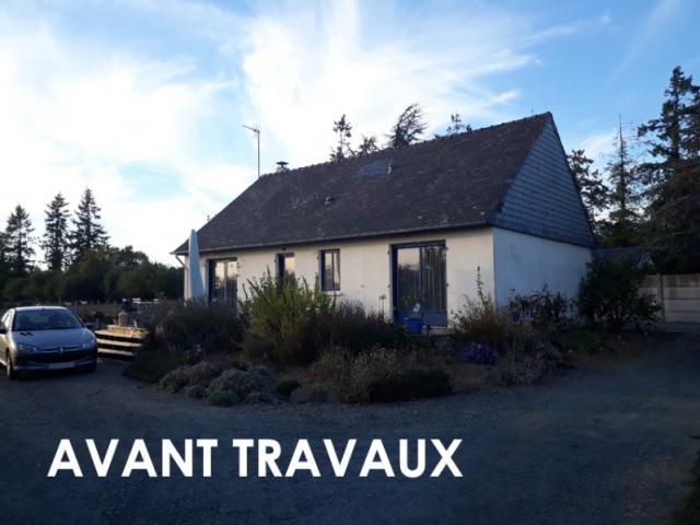 Surélévation d'une maison à Nort-sur-Erdre.